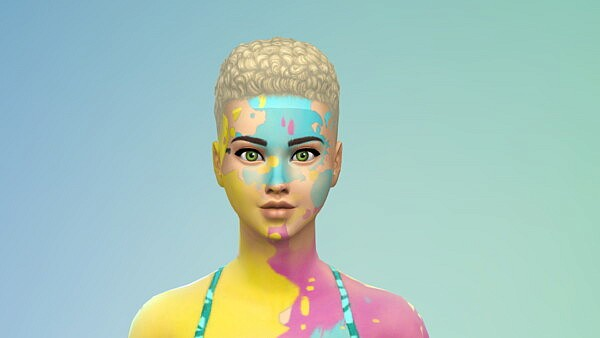 Unlocked Dye Explosion Face Paint by JungleSim from Mod The Sims