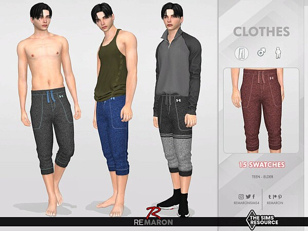 Yoga Pants 01 for Male Sims by remaron from TSR