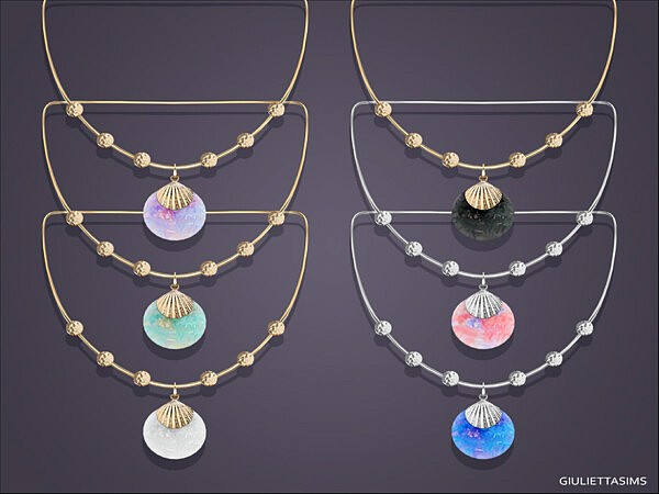 Shell Drop Pendant Necklace by feyona from TSR