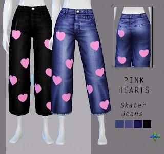 Pink Hearts Skater Jeans from Rimshard Shop