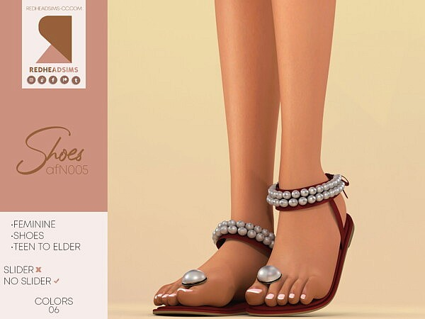AF Shoes N 005 from Red Head Sims