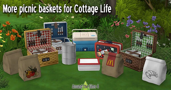 Alternative picnic baskets from Around The Sims 4