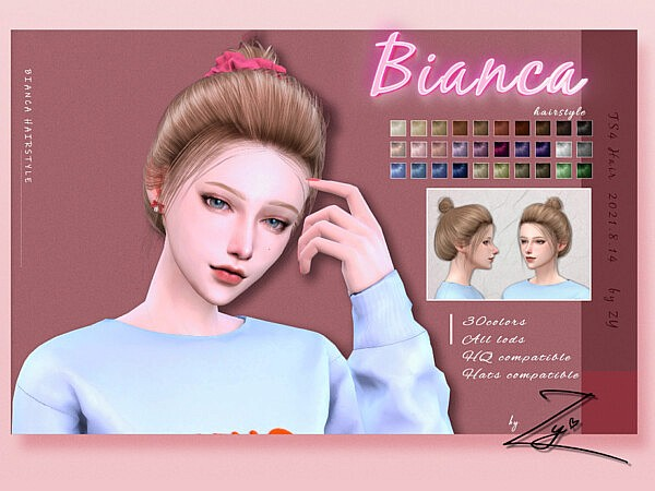 Bianca hair by Zy from TSR