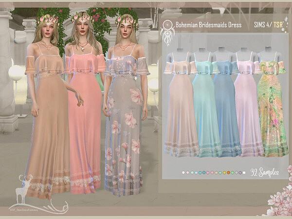 Bohemian Bridesmaids Dress by DanSimsFantasy from TSR