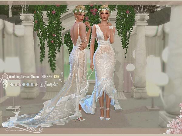 Bohemian Wedding Dress Alsine by DanSimsFantasy from TSR