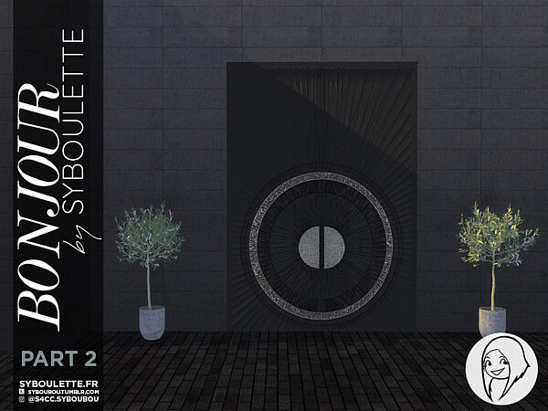 Bonjour Front door set   Part 2 by Syboubou from TSR