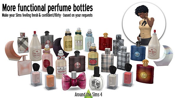 Functional perfume bottles from Around The Sims 4