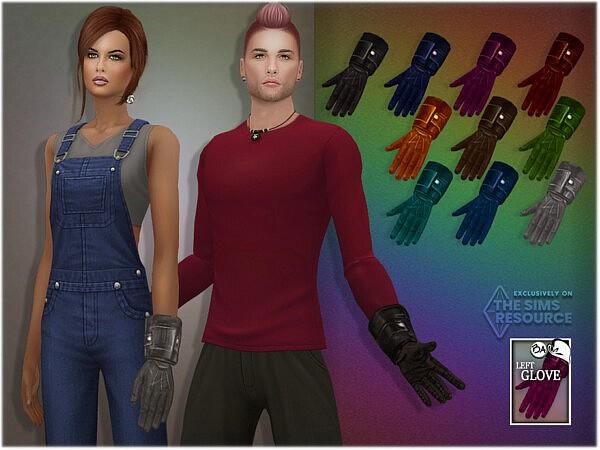 Leather Left Gloves by BAkalia from TSR