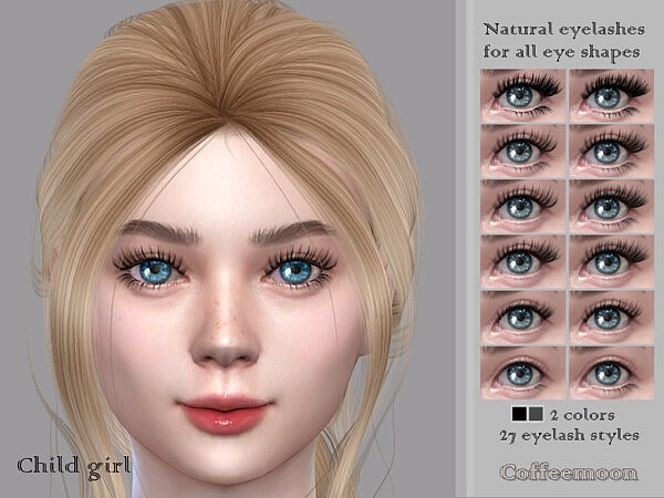 Natural eyelashes KG by coffeemoon from TSR