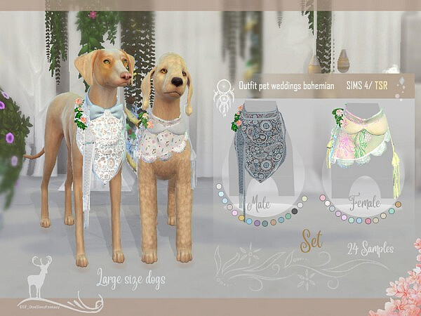 Outfit pet weddings bohemian by DanSimsFantasy from TSR