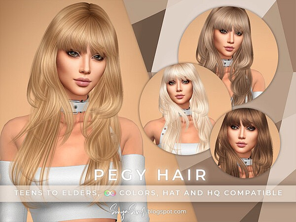 Pegy Hair by SonyaSimsCC from TSR