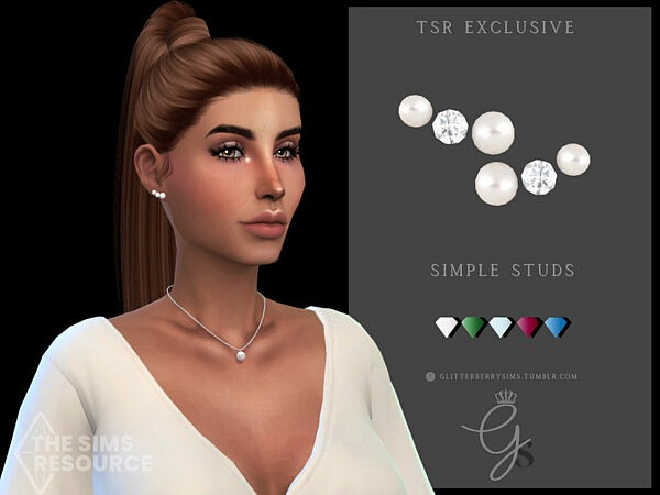 Simple Studs by Glitterberryfly from TSR