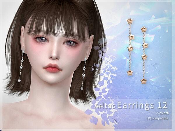 Star earrings 12 by Arltos from TSR