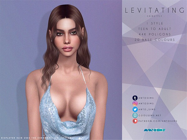 Levitating Hairstyle by Anto from TSR