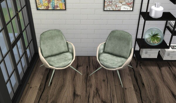 Moon Chair Set Low Poly from Pop Sims Culture