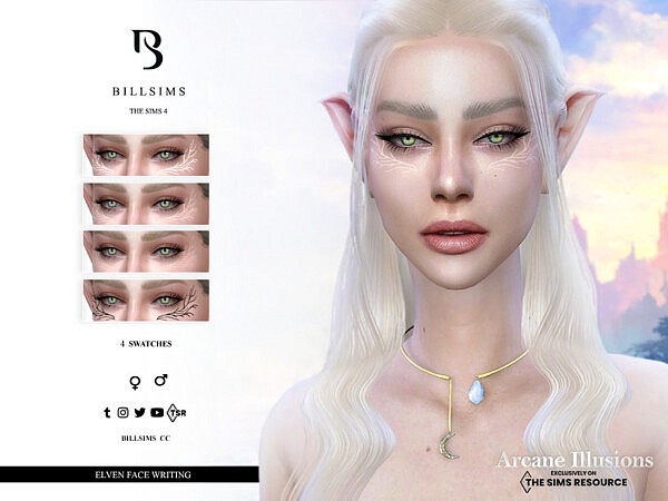 Arcane Illussions   Elven Face Writing by Bill Sims from TSR