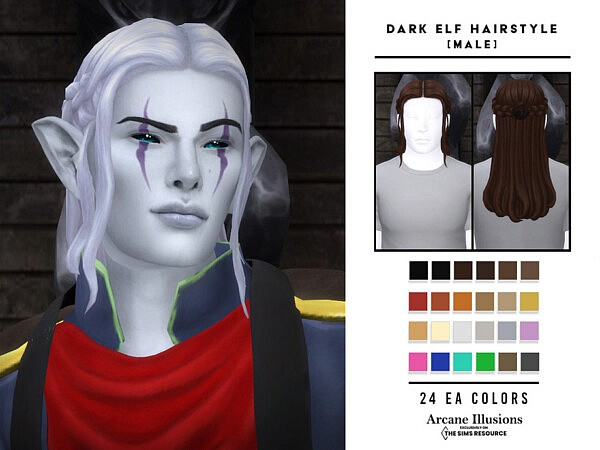 Arcane Illusions   Dark Elf Hairstyle by OranosTR from TSR