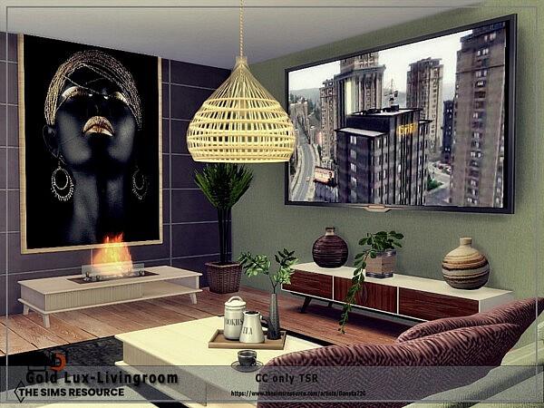 Gold Lux Livingroom by Danuta720 from TSR
