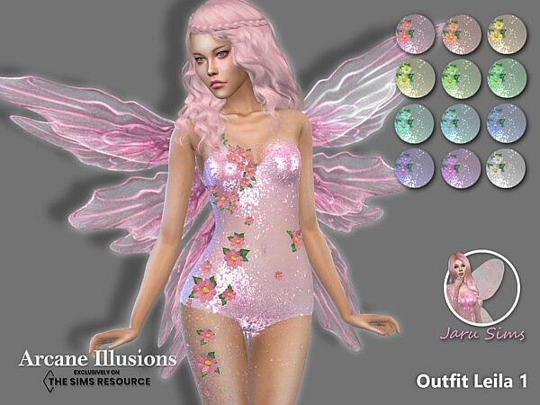 Arcane Illusions   Outfit Leila 1 by Jaru Sims from TSR