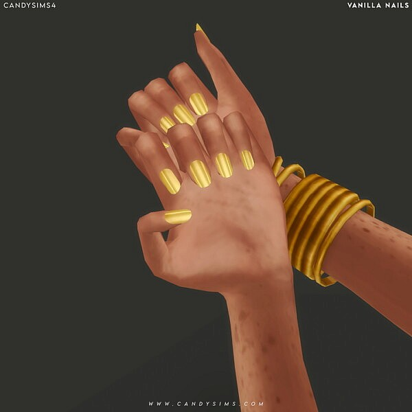 Vanilla Nails from Candy Sims 4