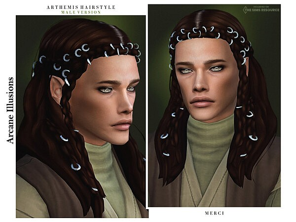 Arcane Illusions Arthemis Hairstyle for Male by  Merci  from TSR