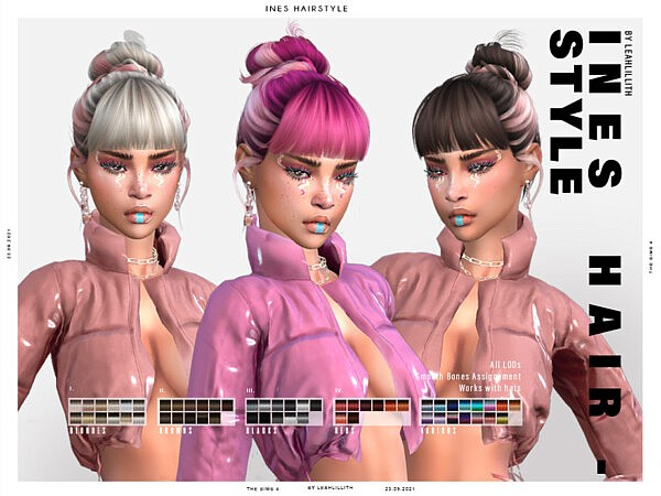 Ines Hairstyle by Leah Lillith from TSR