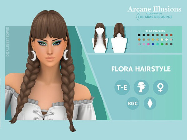 Arcane Illusions   Flora Hairstyle by simcelebrity00 from TSR