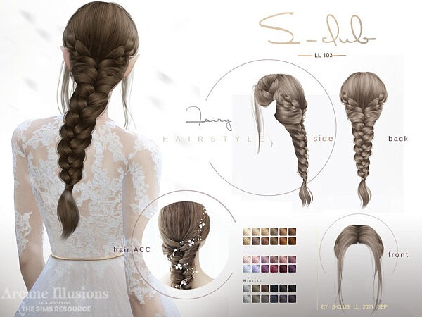 Arcane illusion Braid Long elf hairstyle by S Club from TSR