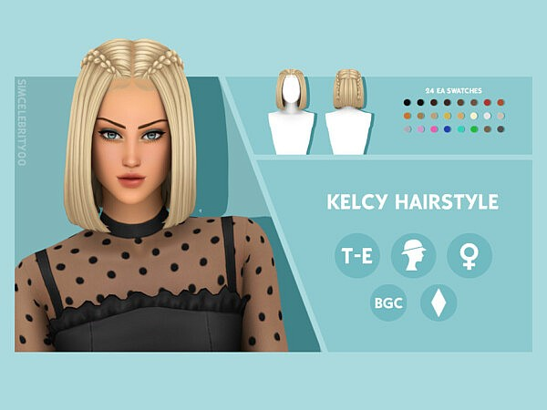 Kelcy Hairstyle by simcelebrity00 from TSR