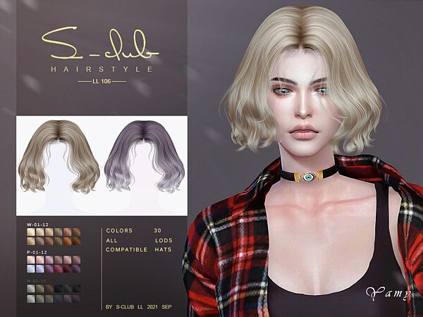 Short curl hair by S Club from TSR