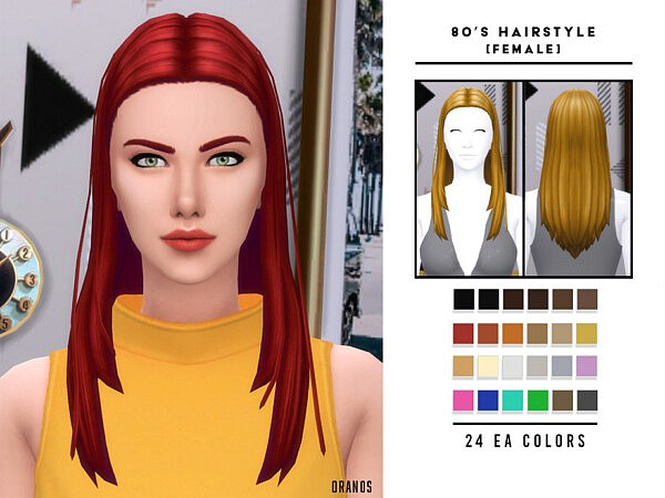 80s Hairstyle [Female] by OranosTR from TSR