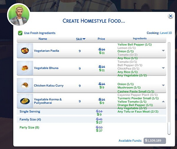 Vegetable Korma and Puliyodharai   New Custom Recipe by RobinKLocksley from Mod The Sims