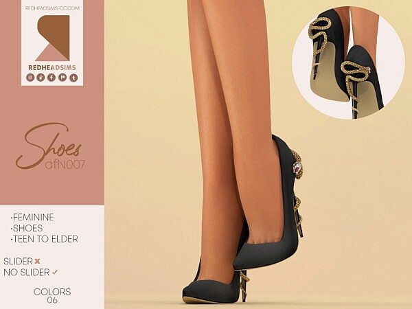 AF Shoes N007 from Red Head Sims