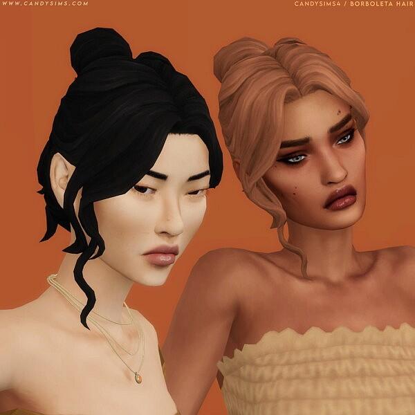Borboleta Hair from Candy Sims 4