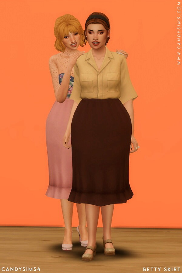 Betty Skirt from Candy Sims 4