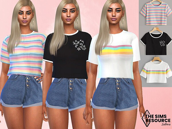 Casual Trendy Crop Tops by Saliwa from TSR