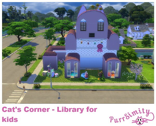 Cats Corner    Library for Kids and Toddlers by PurrSimity from Mod The Sims