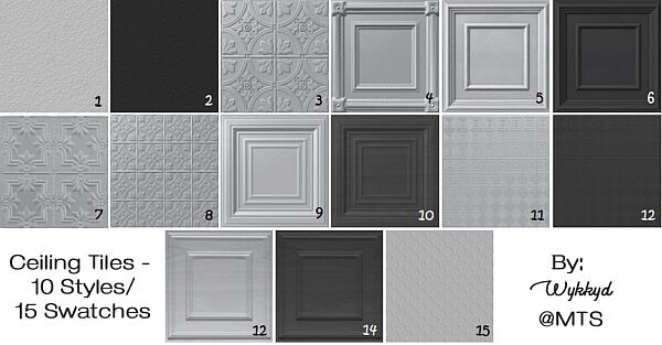 Ceiling Tiles by Wykkyd from Mod The Sims