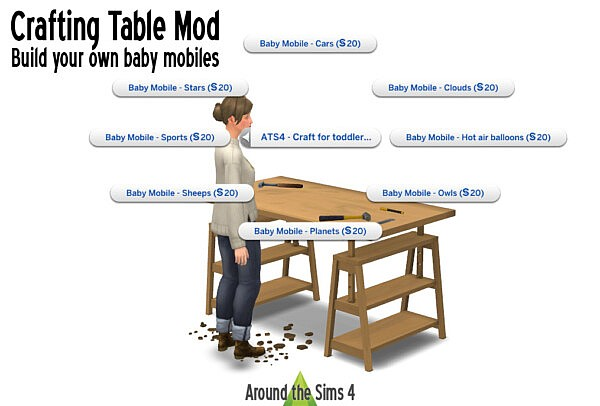 Crafting Table Mod from Around The Sims 4