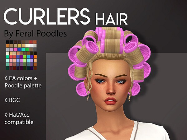 Curlers Hair by feralpoodles from TSR