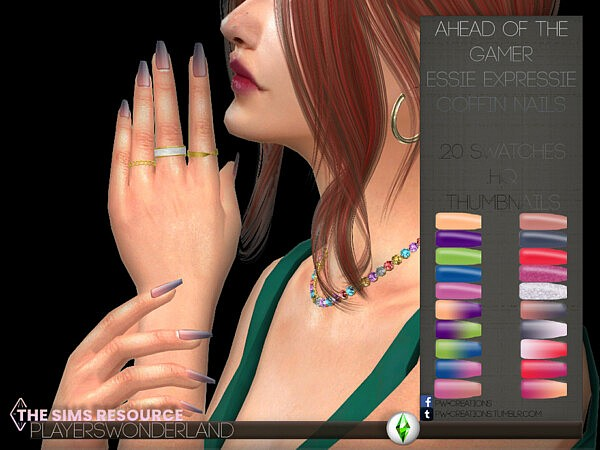 Essie Expressie Coffin Nails by PlayersWonderland from TSR