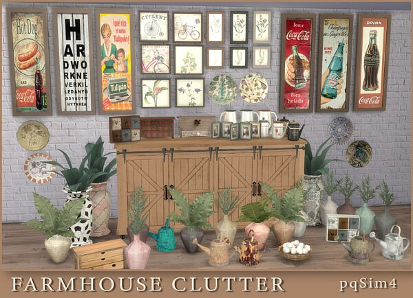 FarmHouse Clutter from PQSims4