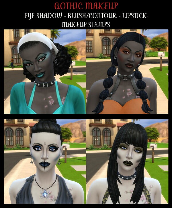 Gothic Makeup for Edgy Sims by Simmiller from Mod The Sims