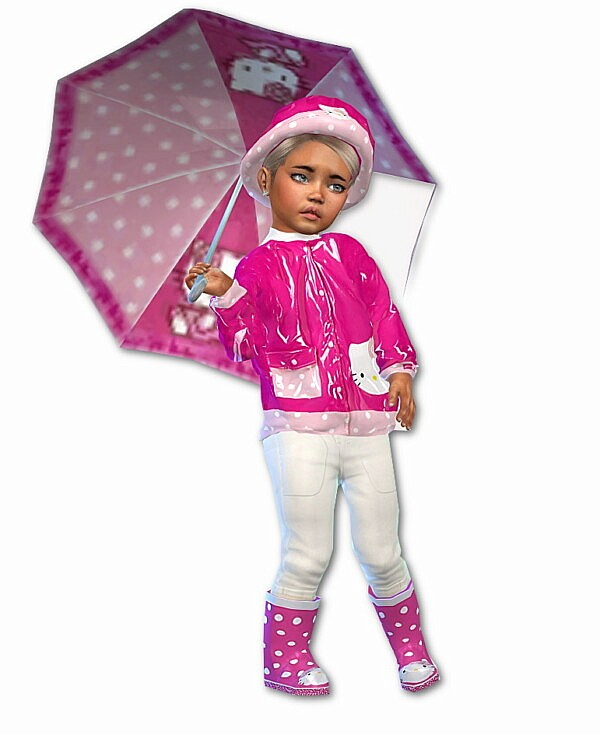 Hello Kitty Rain Set from Sims4 boutique