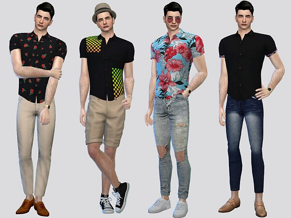 Into Patterned Shirt by McLayneSims from TSR