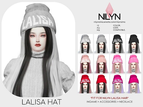 Lalisa Hat from Nilyn Sims 4