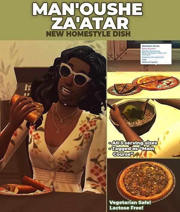 Manoushe Zaatar   New Custom Recipe by RobinKLocksley from Mod The Sims