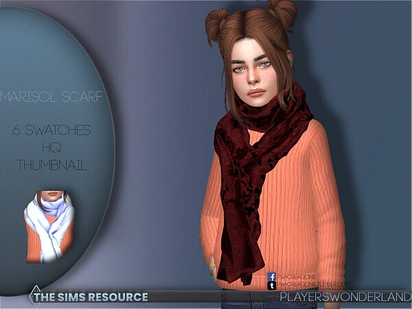Marisol Scarf for Child by PlayersWonderland from TSR