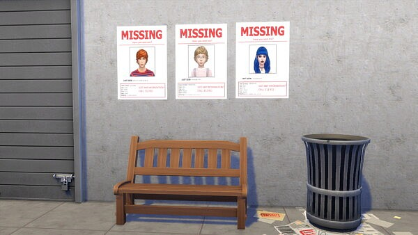 Missing Teens Posters by NatiX13 from Mod The Sims
