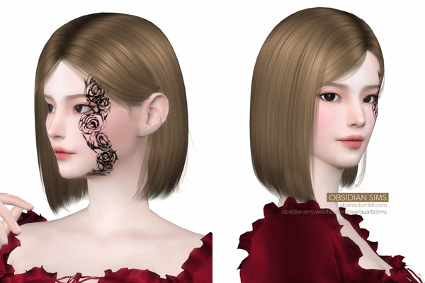 Nobaras Rose Tattoo from Obsidian Sims
